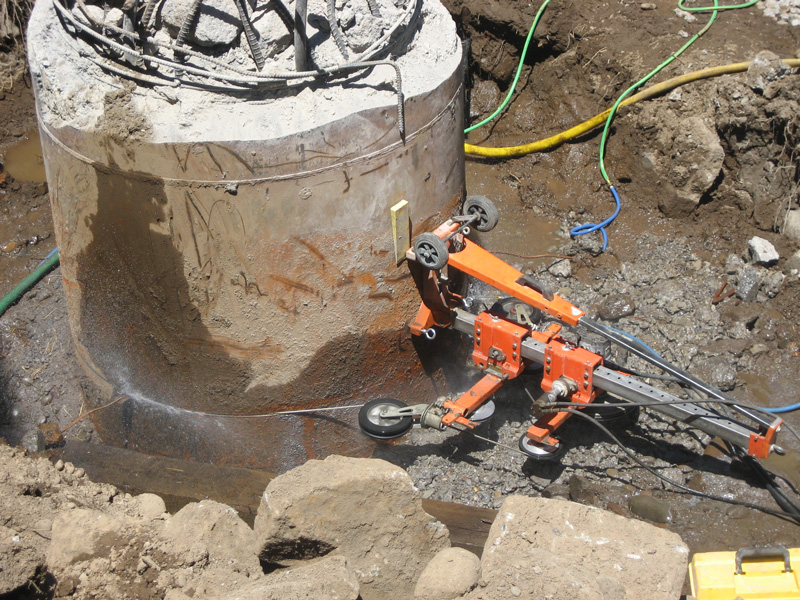 Wall Mount Concrete Saw : Concrete wire wall sawing services company portland